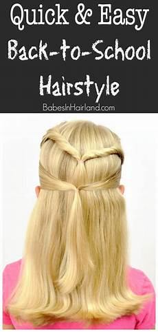 quick easy back to school hairstyle in hairland