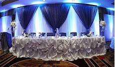 blue wedding decor head table wedding decorations