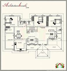 plans of houses kerala style 2500 square feet kerala style house plan with three