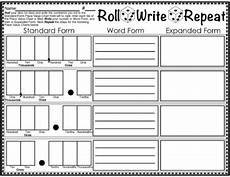 roll write repeat place value dice game decimal expanded form tpt