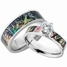 his and hers cz camo wedding ring free shipping