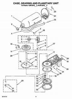 Kitchenaid Parts Order by Kitchenaid 4ksm150psbw0 Parts List And Diagram