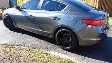 2013 acura ilx lowered and quot rims youtube