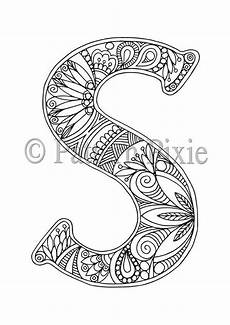 colouring pages for adults of animals letters 17309 colouring page alphabet letter s etsy