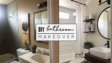 diy small bathroom makeover youtube