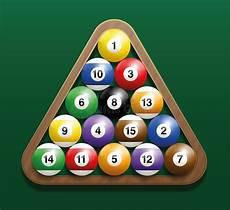 Pool Billiard Balls Rack Starting Position Stock Vector