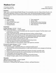 resume sumary graphic designer best graphic designer resume exle livecareer
