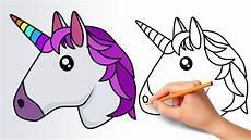 Emoji Malvorlagen Unicorn How To Draw A Unicorn Emoji Step By Step