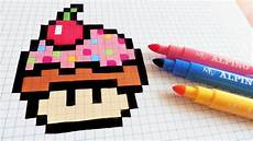 handmade pixel how to draw cupcake