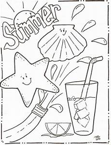 summer coloring pages to and print for free