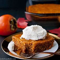 persimmon pudding cake recipe sweet baker