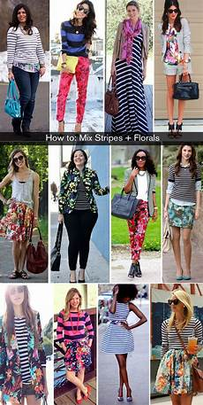 mixing patterns how to wear florals and stripes fashion