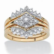 1 5 tcw diamond 18k gold over sterling silver 3 piece