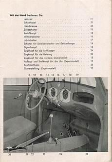 1951 vw bug wiring harness painless thesamba september 1951 vw bug owner s manual german