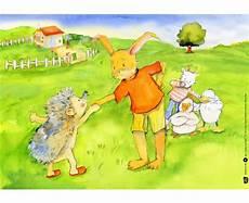 Hase Und Igel Malvorlagen Bildkarten Hase Und Igel Betzold At