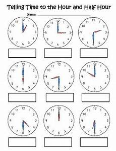 time worksheets hour and half hour 2913 telling time activity page hour half hour by hueston tpt