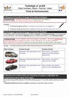 fonction d usage d une voiture technologie et soci 233 t 233 c 201 noncer la fonction d usage d un