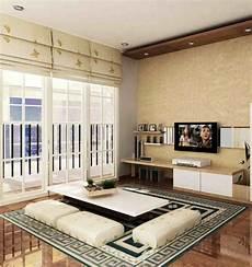 Desain Ruang Tamu Minimalis Lesehan Tanpa Sofa Interior
