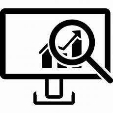 monitor magnifier symbols symbol data analysis data analytics interface analytics icon