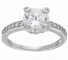 diamonique 2 20 cttw bridal ring platinum clad j328635 qvc com