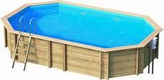 Pool Bausatz Holz Holzpool Octa6 13 Oval Schwimmbecken Blockbohlen Bausatz