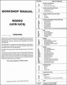 car engine repair manual 1995 isuzu rodeo head up display 1995 5 isuzu rodeo repair shop manual original