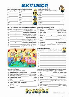grammar worksheet there is there are with prepositions 25093 revision numbers time there is there are quantifiers some any no prepositions of time