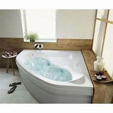 baignoire balneo baignoire baln 233 o avec tablier angle l 140x l 140 cm