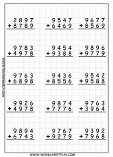 beginning addition with regrouping worksheets 9694 4 digit addition with regrouping carrying 9 worksheets free printable worksheets