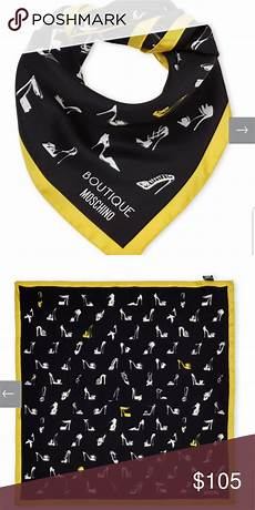 boutique moschino silk scarf woven allover print