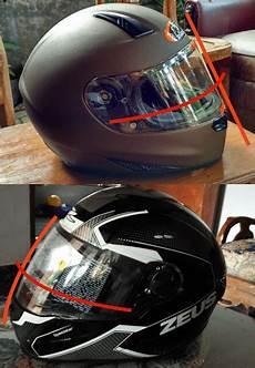 Modif Helm Yamaha by Modifikasi Helm Harian Pakai Flat Visor Moladin Motor