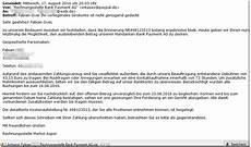 offene rechnung per mail konto nicht 252 gend gedeckt