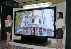 le plus grand ecran tv du monde sharp la plus grande t 233 l 233 lcd du monde lebloggadget