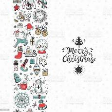 merry christmas seamless pattern vertical border greeting card template happy winter