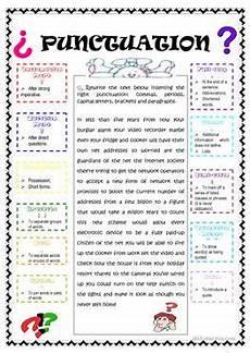 47 free esl punctuation worksheets