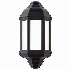 halbury led outdoor half lantern el 40116 the lighting superstore