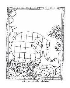kleurplaat elmer elmar elefant kindergartenbeginn