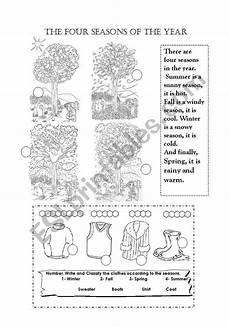 seasons of year worksheets 14870 the four seasons of the year esl worksheet by maalpo