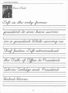 cursive handwriting worksheets 5th grade 22014 44 united states presidents character writing worksheets zaner bloser beginning cursiv