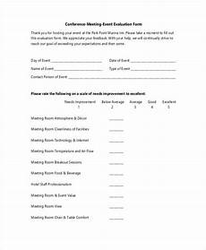 free 25 event evaluation forms in pdf