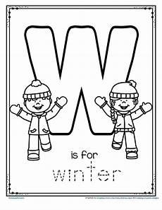 winter letter worksheets 20040 free w is for winter trace and color printable winteractivities preschool kindergarten