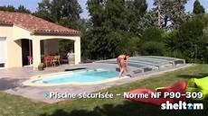 de piscine pose d un abri de piscine t 233 lescopique sheltom