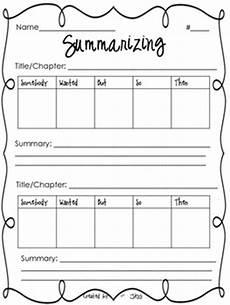 summarizing worksheet by jessica scott teachers pay teachers
