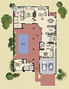 courtyard pool house plans best of floor plans for homes with pools new home plans