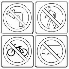 Anime Malvorlagen Indonesia Traffic Signs Coloring Pages Encouraging To Move