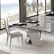 table verre design italien table en verre design pied chrom 233 sur cdc design