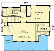 750 square foot house plans 750 square foot cottage house plan with vaulted living