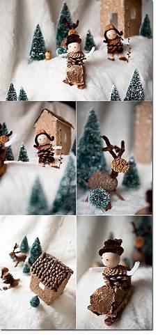 Mit Naturmaterialien Basteln Winter Weihnachten