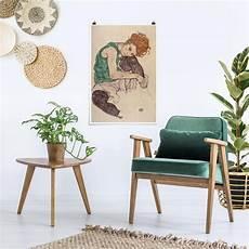 Poster Egon Schiele Sitzende Frau Mit Hochgezogenem