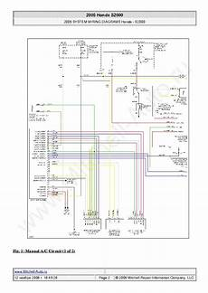 2001 honda s2000 wiring diagram fuse box and wiring diagram